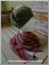 Stickad mössa & sjal