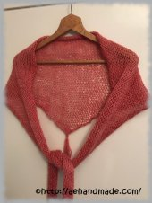 Stickad sjal